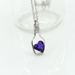 Sidni, Кулон с цепью сердце в бутылке 138563